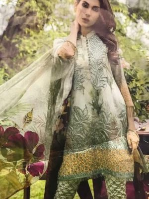 Iznik Luxury Embroidered Winter Linen Collection Replica