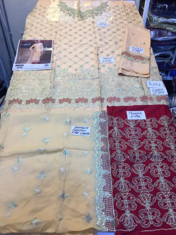 Anaya Luxury Embroidered Latest Linen Collection Replica