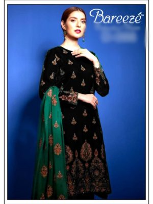 Bareeza Luxury Embroidered Winter Velvet Collection Replica