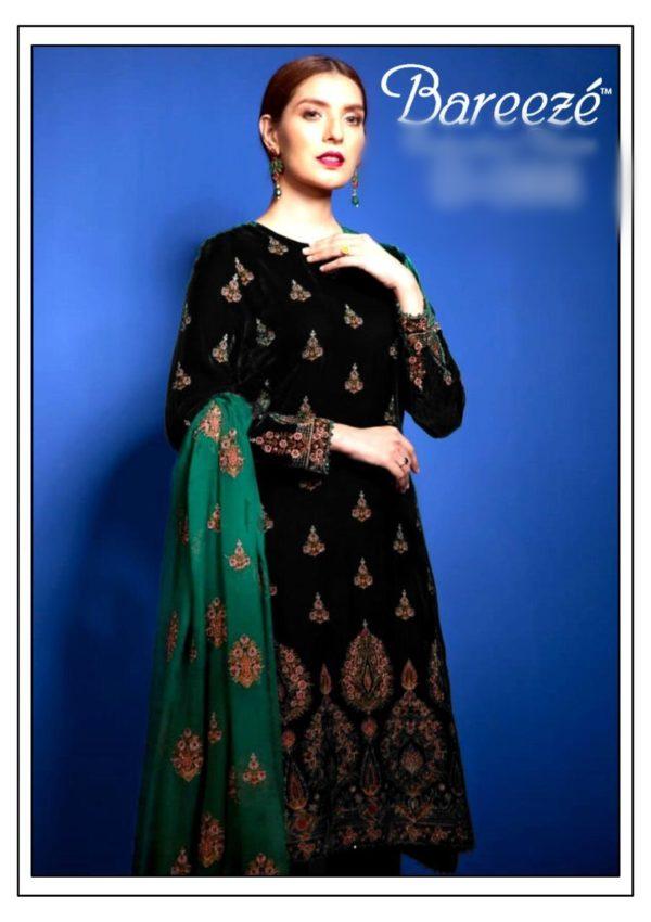 Bareeza Luxury Embroidered Winter Velvet Collection Replica