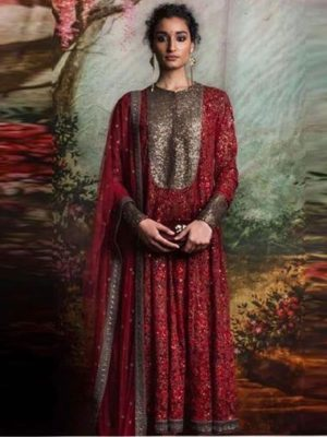 Ethinic Luxury Embroidered Winter Linen Collection Replica