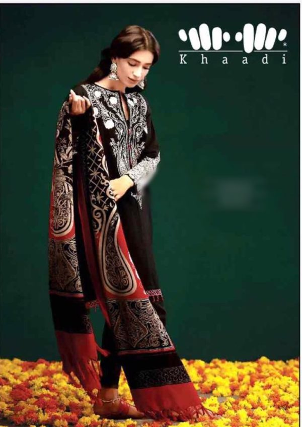 khaadi Luxury Embroidered Khaddar Collection Replica 2018