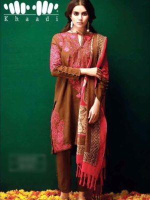 khaadi Latest Embroidered Khaddar Collection Replica