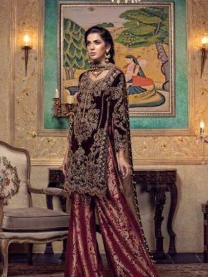 Maria B Latest Embroidered Winter Linen Collection Replica 2018