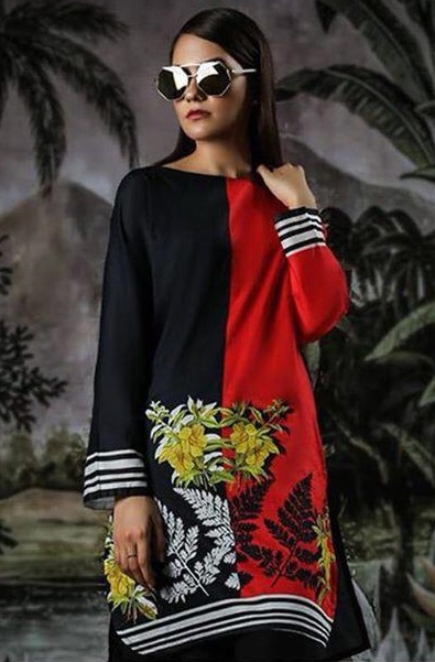 Sana Safinaz Luxury Embroidered Winter Linen 2pc Collection Replica