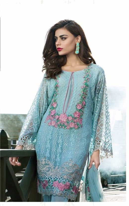 Agha Noor Fancy Embroidered Organza Kurti Collection Replica