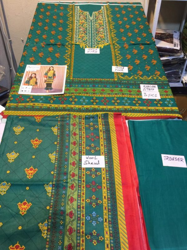 Keyseriya Latest Embroidered Khaddar Collection Replica