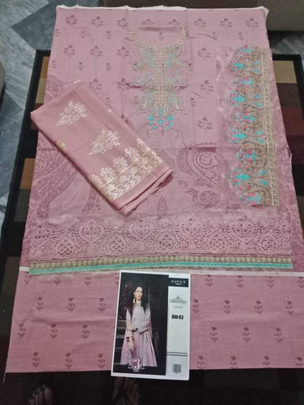 MARIA B Latest Embroidered Winter Khaddar Collection Replica