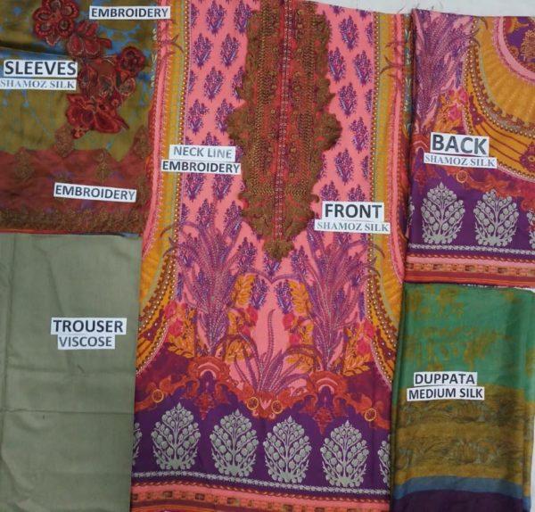 SANA SAFINA Luxury Embroidered Latest Silk Collection Replica