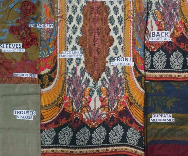 SANA SAFINA Latest Embroidered Silk Collection Replica