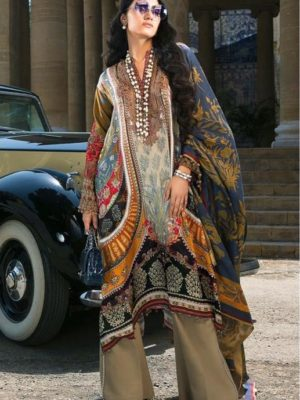 SANA SAFINA Luxury Embroidered Latest Silk Collection Replica