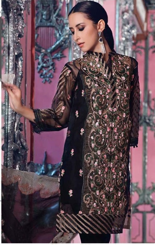 f1a54c48fc Agha Noor Latest Embroidered Organza Kurti Collection Replica