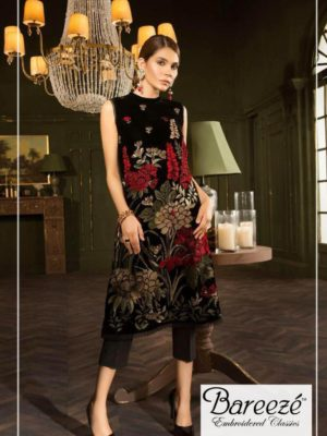 Bareeza Luxury Embroidered Latest Winter Collection Replica