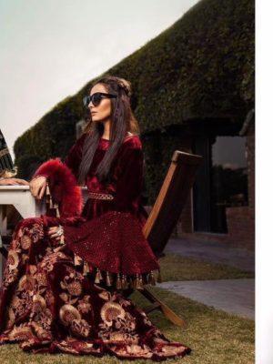Chrizma Luxury Embroidered Winter Velvet Collection Replica