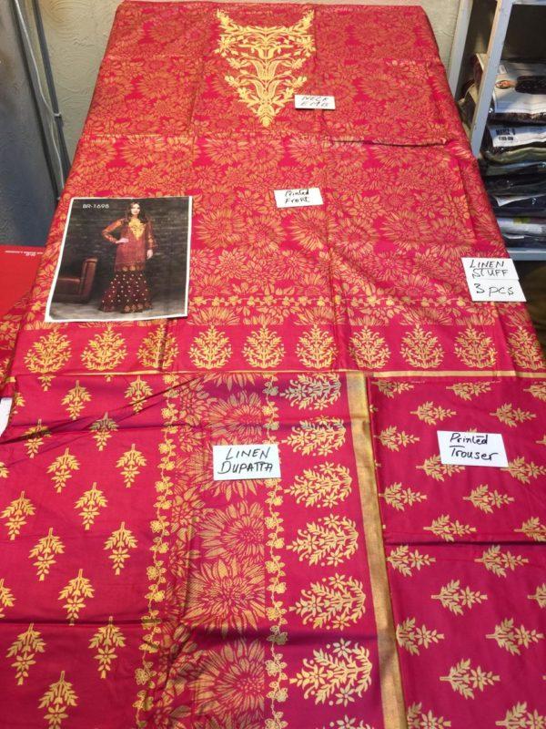 Keyseriya Luxury Embroidered Winter Linen Collection Replica