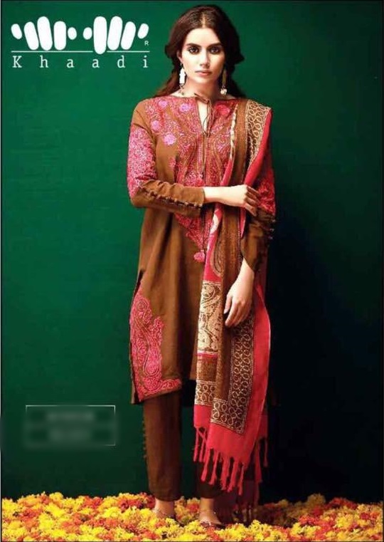 9ef0f3b5ee khaadi Latest Embroidered Winter Embroidered Collection Replica
