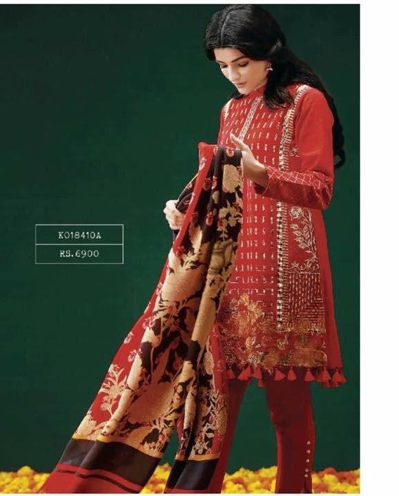khaadi Luxury Embroidered Winter Khaddar Collection Replica