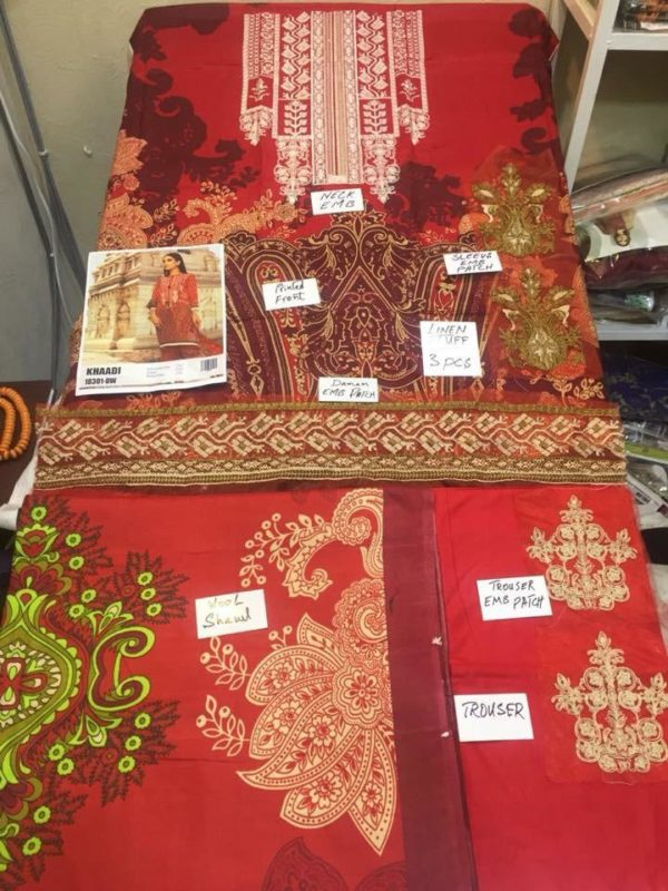 Khaadi Latest Embroidered Winter Linen Collection Replica