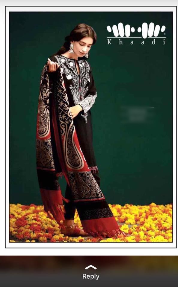5110ac0056 khaadi Luxury Embroidered Winter Khaddar Collection Replica