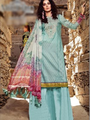 Maria B Latest Embroidered Winter Linen Collection Replica 2019