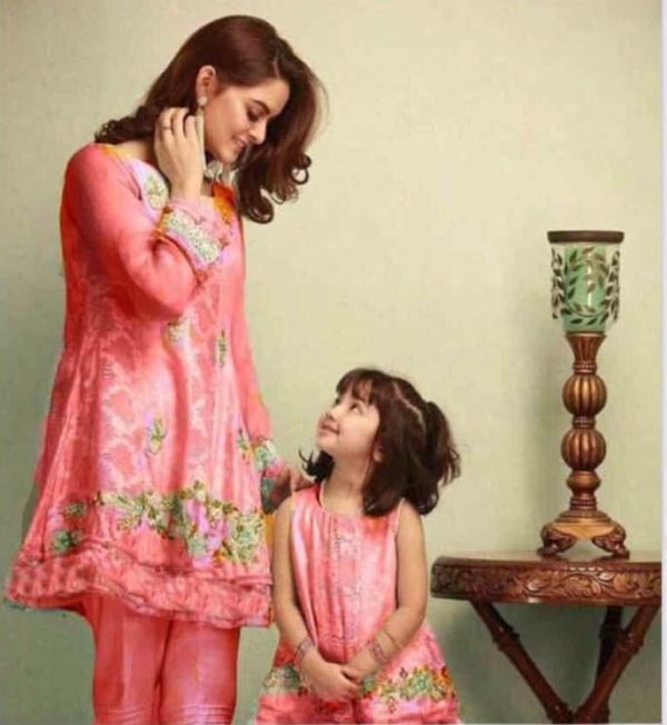 Maria B Luxury Embroidered Latest Kids Linen Collection Replica