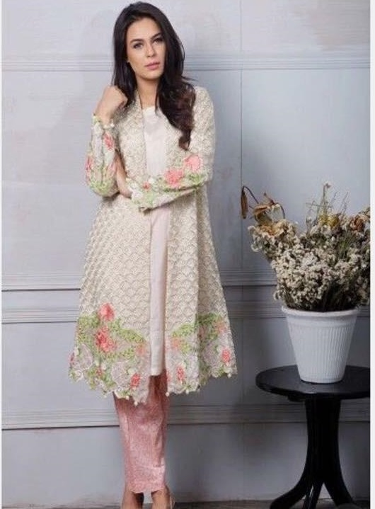 Maria B Luxury Embroidered Fancy Linen Collection Replica