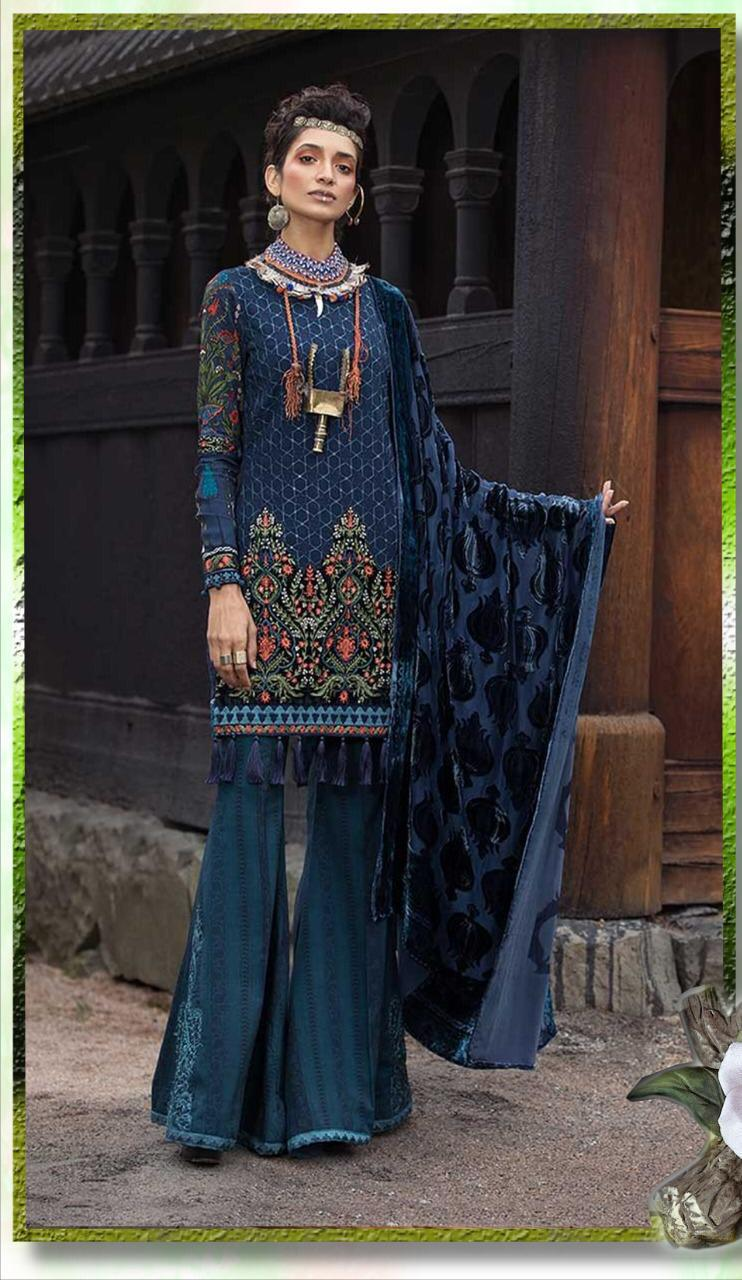bfd412aa7b Maria b Luxury Embroidered Winter Linen Collection Replica 2019