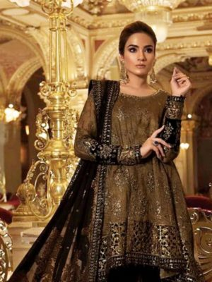 Maria b Luxury Emboridered Winter Linen Collection Replica 2019
