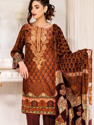 Okas Luxury Embroidered Winter Linen Collection Replica