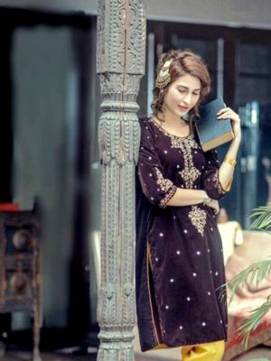 Raheela Luxury Embroidered Winter Velvet Collection Replica