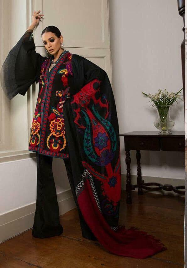 Sana Safinaz Luxury Embroidered Winter Khaddar Collection Replica