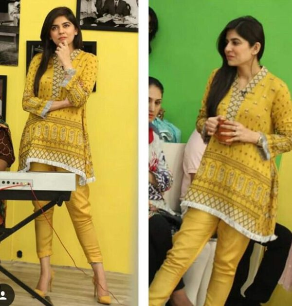 Sanam baloch Luxury Embroidered Linen Collection Replica