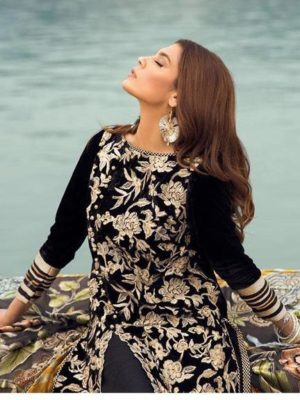Sapphire Luxury Embroidered Winter Velvet 2pc Collection Replica