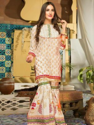Zara ahmad Luxury Embroidered Winter Linen Collection Replica