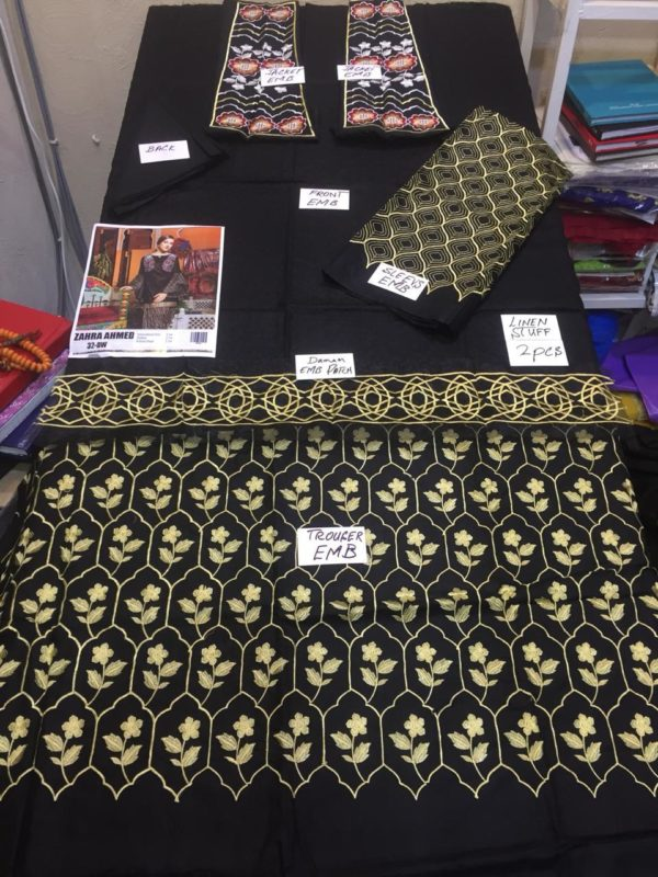 Zara ahmad Luxury Embroidered Linen Collection Replica