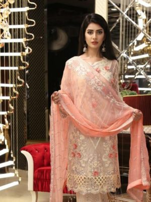 Zebtan LATEST Embroidered Luxury Bamber Chiffon Collection Replica