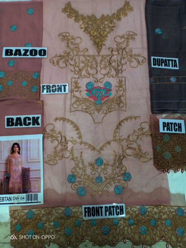 Zebtan LATEST Embroidered Bamber Chiffon Collection Replica