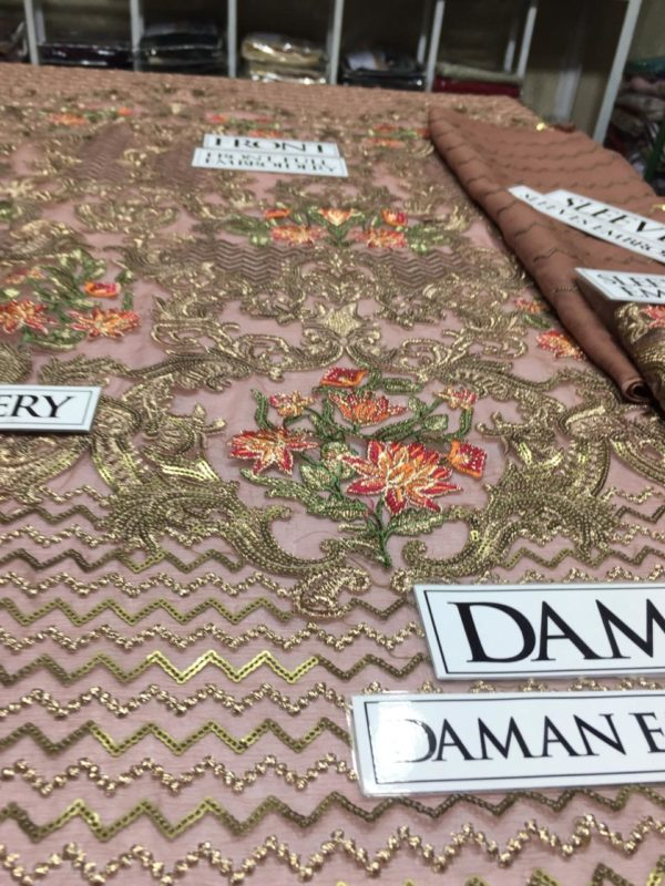 Jazmine Luxury Embroidered Bamber Chiffon Collection Replica