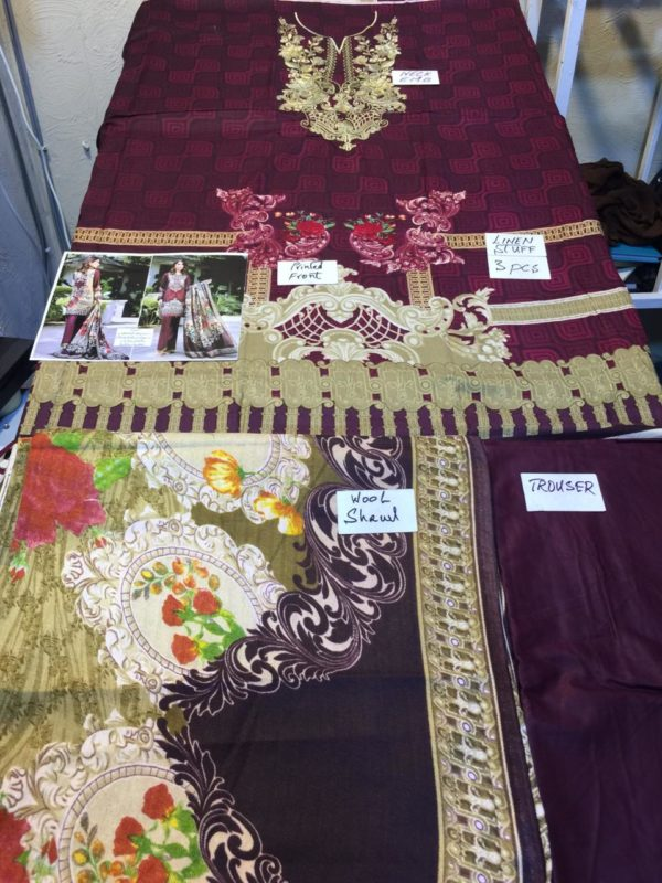 BAROQUE Luxury Embroidered Winter Linen Collection Replica