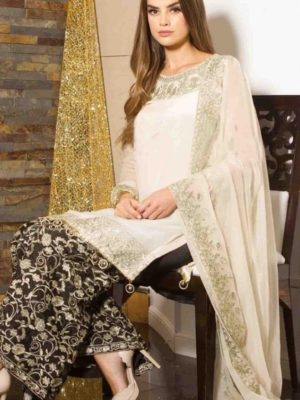 Gulwarun Luxury Embroidered Chiffon Collection Replica