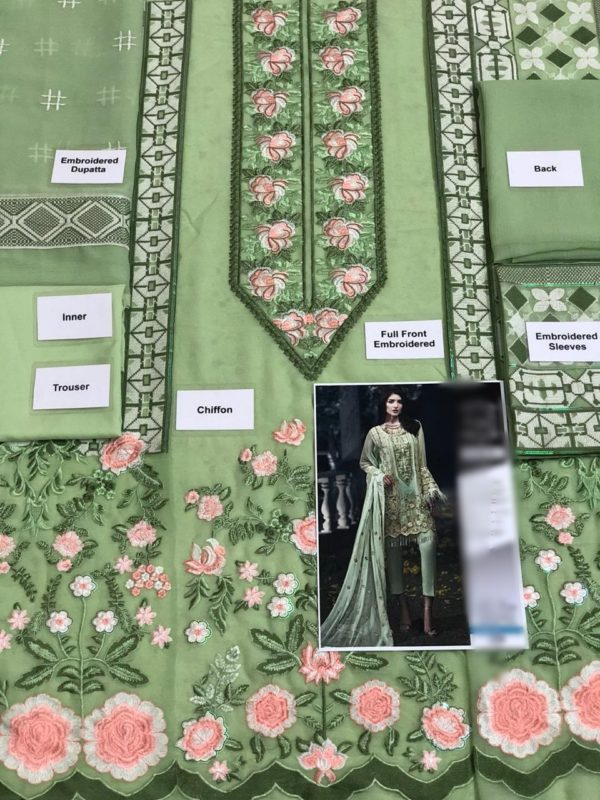 Ittehad Luxury Embroidered Chiffon Collection Replica