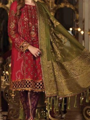 Maria B Luxury Nauratan (BD-1509) Embroidered Chiffon Collection Replica