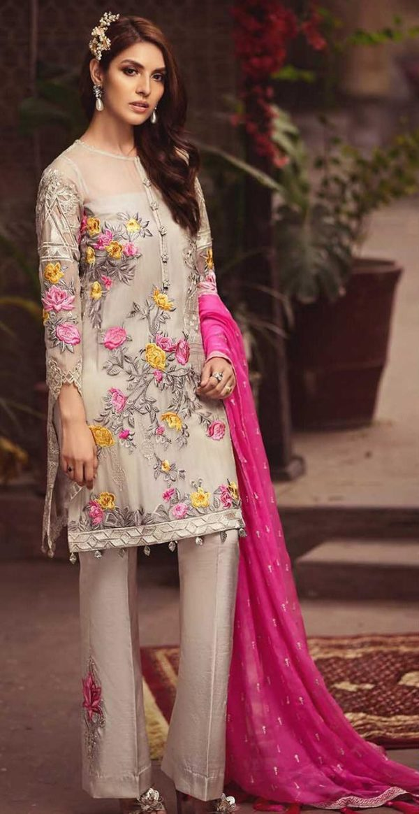 Serene Luxury (D03 Pink Les Nuits) Embroidered Chiffon Collection Replica