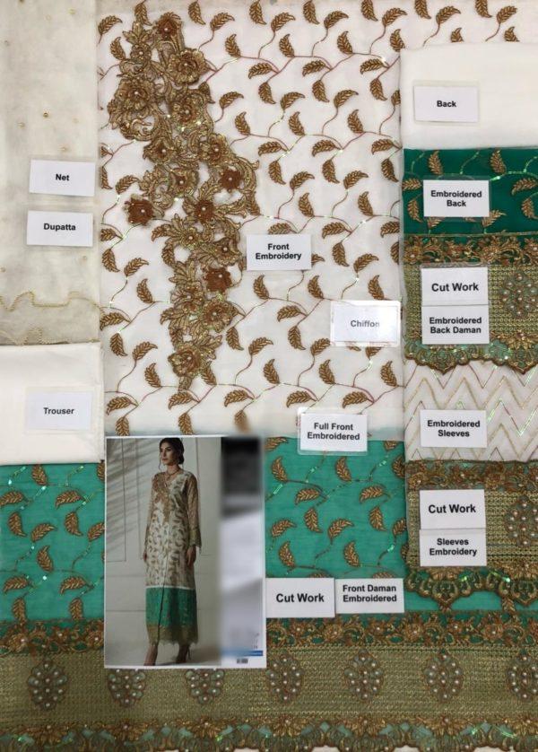 Waseem Noor Luxury Embroidered Wedding Chiffon Collection Replica