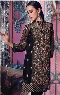 fe679a3e07 Agha noor Luxury Embroidered Cotton Net Shirt Collection Replica