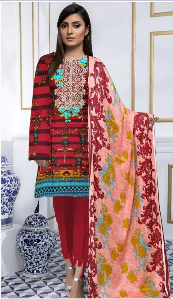 Agha Noor Luxury Embroidered Linen Collection Replica