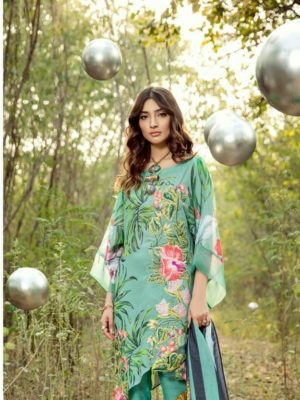 Asifa nabeel Latest Embroidered Lawn Collection Replica