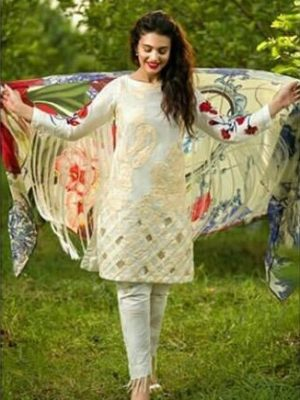 Asifa nabeel Luxury Embroidered Viscose Collection Replica