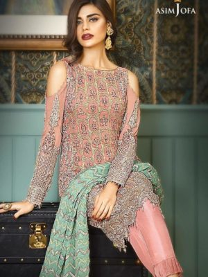 Asim jofa Embroidered AJC-6A Bamber Chiffon 2pc Master Replica