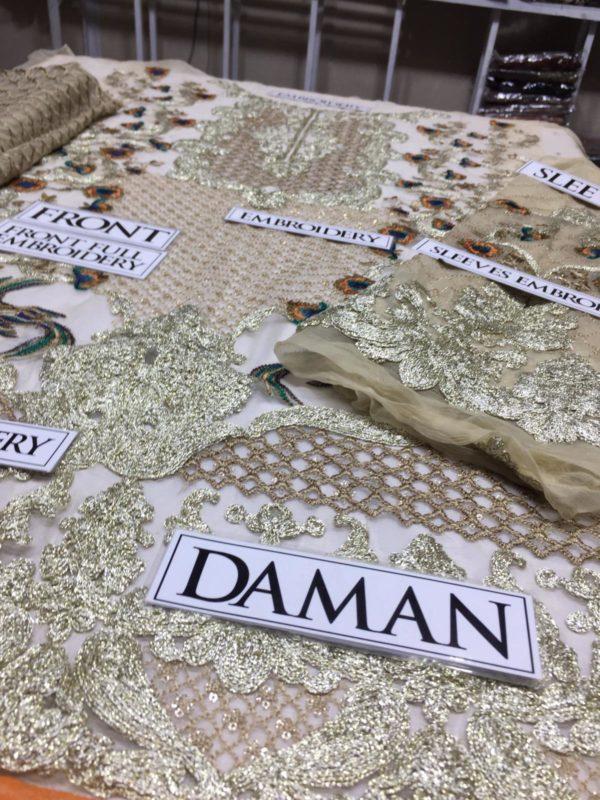 Asim jofa Luxury Embroidered Bamber Chiffon Master Replica